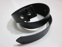 Wholesale Color Belt Strap For Men - Wholesale-20pcs lot Black color Snap on belt , strap belt for belt buckle, free shipping