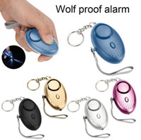 Wholesale Personal Emergency - Personal Alarm With LED Light 120DB Anti Lost Wolf Self-Defense Attack Emergency Alarms For Women Kids Elderly YYA951