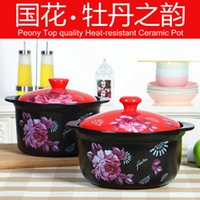 Wholesale Gas Wok - Wholesale-gas grill pan chaleira wok panelas High temperature resistant ishinabe ceramic casserole Large sauceboxes soup pot panela