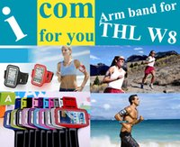 Wholesale W11 Cover - Wholesale-Sweatproof Solf Belt Armband Running bag Sports Cover Gym Arm Band Case for THL W8 W8s W8+ W8e W11 W200 W200S Necessary gadget