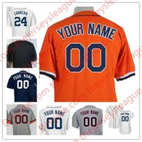 Wholesale Road Number - Mens Womens Youth Detroit Customized White Home Navy Blue Gray Road Orange Stitched Any Name Any Number Cool Base Jerseys S-4XL