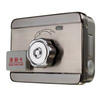 Wholesale Read Locks - 1 Set DIY Sell Well Electronic Integrated RFID Card Lock Double Reading Card To Open The Door 125KHZ+5PCS Card