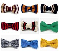 Wholesale Men S Ties Stripes Gray - 10 pcs Cute Bow Tie Fro baby kid 25 Colors Strips Style Thick
