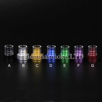 Wholesale V6 Big - Chuff Enuff V6 Drip Tips Wide bore Glass Aluminum Tobh Atty Drip Tips Big chief chuff top cap for Atty Tobh Stillare Enigma V5 RDA RBA