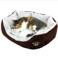 Wholesale Dog Pet Pad - TOP Pet Dog Nest Puppy Cat dog Soft Bed Fleece Warm House Kennel Plush Mat big warm Teddy plush pet bed dog cat houses