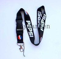 Wholesale Pepsi Phone - Sale 10 Pcs PEPSI Drink Logo mobile Phone lanyard Keychain straps Party Gift free delivery A -41