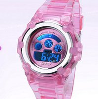 Wholesale Girl Diving Watches - Wholesale-OHSEN brand sport watch wristwatch childrens girls digital displlay dive silicone band pink cute fashion watches hours for gift