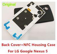 ingrosso batteria per il nesso-Custodia originale per LG Google Nexus 5 Custodia posteriore Custodia posteriore con chip NFC per nexus 5 D820
