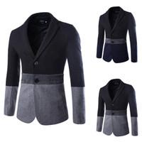 Wholesale Trajes Novio Tuxedo - Trajes De Novio New Arrival Cotton Regular Single Breasted Flat Tuxedo Winter Men's Casual Suit Jacket Color 8777