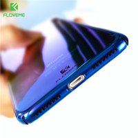 Wholesale Phone Covers Accessories - Phone Case For iPhone 7 6S Plus Case Protector Gradient Blue-Ray Light Case For Apple iPhone 7 7 Plus Clear Accessories Cover