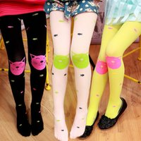 Wholesale Fish Candy - New baby girls leggings lovely candy color cat fish pattern leggings 60 cm 7 colors for choose