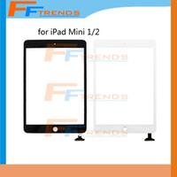 ipad mini cam dokunmatik sayısallaştırıcı toptan satış-IPad Mini Için 100% Test Beyaz Siyah 1 Mini 2 Dokunmatik Digitizer Ekran Cam Dokunmatik Panel Ücretsiz Kargo