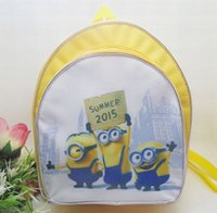 Wholesale Kids Novelty Backpacks - New Fashion Novelty Despicable Me Kids Cartoon Backpack Minions emochilas children school bag mochilas