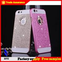 Wholesale Iphone Glittery Cases - Bling bling Glitter Glittery Sparkle Case Bling Hard Plastic Case For iphone 6 iphone 6 plus iphone 5
