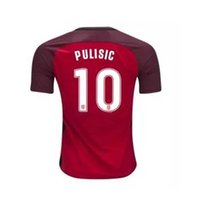 17-18 Pulisic 10 National Team Red Soccer Jersey Jersey de ouro dos Estados Unidos Red Soccer Jersey 17 18 DEMPSEY BRADLEY ALTIDORE WOOD FOOTBALL SHIRT