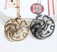 Wholesale Dragons Blood Wholesale - Free DHL Vingate Jewelry Daenerys Targaryen Dragon Necklace Game of Throne Fire And Blood Europe USA Pendant Necklace As Gifts ZJ-N12
