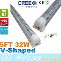 T8 5FT 32W V-förmige Led Tube Light Double Glow 1.5m Integration für Kühler Tür Led Lights Tubes AC 110-277V CE ROHS