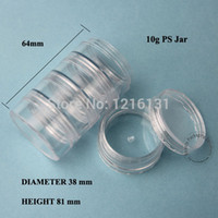 Wholesale Crystal Canisters Wholesale - 5pcs 5*10g PS Cream Jar Plastic Jar Cosmetic Container Empty Makeup Canister Sample Facial Mask Sub-bottling Free Shipping