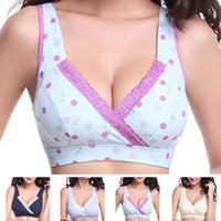 Wholesale pregnant bras - Breastfeeding Nursing Bra Women Clothing For Pregnant Cotton Yoga Sport Maternity Clothes Underwear Crossed Lingerie XC0098 salebags