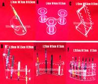 Wholesale Shelf For Electronics - Acrylic e cig display clear standing shelf holder rack for vapor ecig vaporizer pen electronic cigarette ego t battery Base and Mod drip tip
