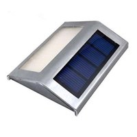Wholesale Solar Indoor Reading Lights - 2 leds Solar Wall Lamp Solar Powered Stainless Steel Outdoor Stairs Recharge Efficient Light Lamp Solar Reading Lights Emergency Lights