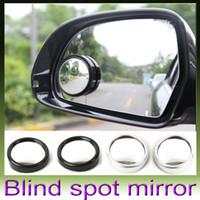 Wholesale Round Convex Mirrors - 2pcs Auto Side 360 Wide Angle Round Convex Mirror Car Vehicle Blind Spot Dead Zone Mirror RearView Mirror