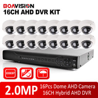 Wholesale Dvr Security Camera System 16ch - 16CH 2.0MP AHD HD CCTV Security System 1080P AHD DVR Kit HDMI&VGA Output,P2P Mobile View + 16Pcs Outdoor Dome IR 10m AHD Camera
