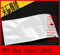 Wholesale 12 cm Clear white pearl Plastic Poly OPP packing zipper Zip lock Retail Packages Jewelry food PVC plastic bag cm cm cm
