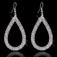 Wholesale Wholesale Bridal Stores - Jewellery Stores Top Quality Selling Fashion Design Big Crystal Earings 2016 For Women Bridal Brand Jewelry 2016 E197