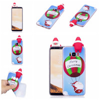 Wholesale Iphone Santa Case 3d - Fashion Christmas Style Phone Cases with 3D Santa Claus PaPa Soft TPU Phone Cover For iphone X 8 7 6 6S Plus