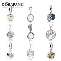 Wholesale Family Christmas Holiday - DORAPANG 925 Sterling Silver Family Tree Crystal Pendant Pearl Charms Beads collocation Bracelet DIY bracelet Wholesale factory