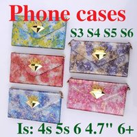 "Wholesale Case Pink Iphone 4s Luxury - Luxury Female SamSung Galaxy S6 Note4 Iphone 6 4.7"" 4s 5s Iphone 6 plus case Wallet PU Leather Case Cover Pouch with Card Slot Photo Cases"