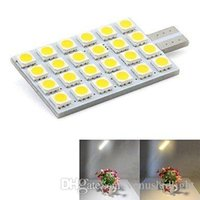 Wholesale 2w Dome Light - dome fesoon Led Automotive Car T10 24*5050SMD 2W 250LM DC 12V Turn Signal Side Marker Lamp
