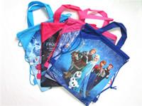Wholesale Cheap Women Toys - 2015 hot drawstring bags kids backpacks handbags children school cartoon bags kids' shopping bags toys present Elsa Anna backpacks Cheap