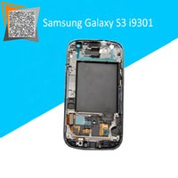 "Wholesale S3 Original Black Display - Wholesale-100% Original 4.8"" Black For Samsung Galaxy S3 Neo i9301 LCD Display + Touch Screen + Frame Assembly"