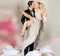 hochzeit bevorzugungsfiguren groihandel-Neue Ankunft True Romance Hochzeitsbevorzugungsaufkleber und Dekoration - Figurine Harz Hochzeitstorte Topper Hochzeit Dekoration Hochzeit Party Supplies MYF46