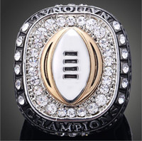 Wholesale Gold University Ring - Hot sale Top Quality Austria Crystal Rings Ohio State University Buckeyes Championship Rings Vintage Men Jewelry