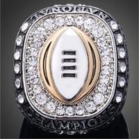 Wholesale University Rings - Hot sale Top Quality Austria Crystal Rings Ohio State University Buckeyes Championship Rings Vintage Men Jewelry
