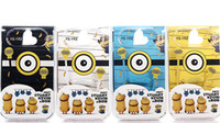 Wholesale Despicable Headphones - YS-192 3.5MM Cartoon Despicable Me Minions Headphone fashion creative gift headphones Universal Earphone Headset for MP3 MP4 player 4 color