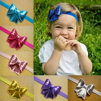 Wholesale Sequined Head Bands - Baby Headbands Sequined Bowknot Kids Headbands Children Hair Accessories Girls Head Wear Infants Baby Head Bands Kids Accessories M332