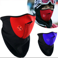Wholesale neoprene motorcycle face masks - Newly Black Neoprene Neck Warm Face Mask Veil Sport Motorcycle Cycling Ski Snowboard Guard 5pcs