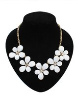 Wholesale Collar Women Exaggerated - Fashion New Floral Chokers Statement Necklaces European Exaggerated Jewelry Accessories Flowers Collarbone Collar Chain Pendants Women Girls