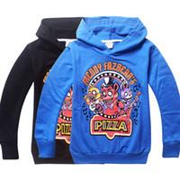 Wholesale Boys Sportwear - Cartoon Five Nights at Freddys Kids Boys clothes Bear Hoodies Autumn Winter Sportwear Children's Sweatshirts Tops