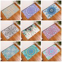 Wholesale pattern bath rugs - Geometry Pattern Footcloth Many Styles Water Uptake Flannel 3D Bath Mats Non Slip Bathroom Toilet Kitchen Rugs 9 8xrg C