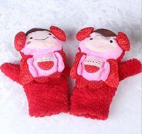 Wholesale Crochet Gloves For Baby - Baby Boy Girls Children Mittens Outdoor Finger Gloves Winter velvet Warmer Child Kids Smile Knitted Accessories Crochet Gifts for Christmas