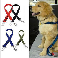 Wholesale Dog Lead Clips - 500pcs New Dog Pet Car Safety Seat Belt Seat Clip Seatbelt Harness Restraint Lead Adjustable Leash Travel Collar