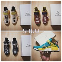 Originale Hu NMD Trail Pale Nude Core Glow Nero Nero Noble Ink Uomo Donna Scarpe da corsa Nmds Pharrell Williams Gare Uomo Gare di Sneakers