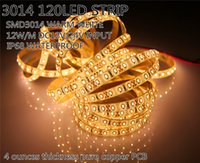 Impermeabile IP68 LED strip 3014 bianco caldo bianco freddo 120led / m 5m 600led / m 12V / 24V