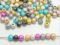 "Wholesale Wholesale Stardust Beads 6mm - Hot ! 1000pcs Mixed Color Stardust Acrylic Round Spacer Beads 6mm(1 4"") DIY Jewelry"