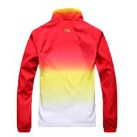 sportkleidung großhandel-2015 LI NING New Fashion Herren Freizeit Sport Anzug / Mann Trainingsanzug Mantel Jacke + Sportswear Hosen / Outdoor Jogging Sweatshirts Sets